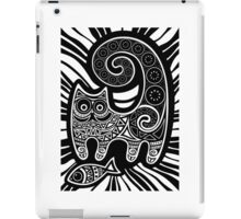 Funny floral pattern cats iPad Case/Skin