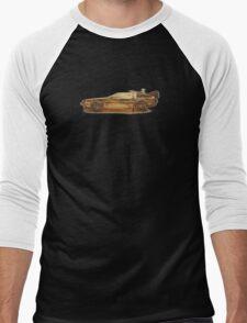 Lost in the Wild Wild West! (Golden Delorean Doubleexposure Art) Men's Baseball ¾ T-Shirt