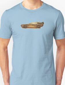 Lost in the Wild Wild West! (Golden Delorean Doubleexposure Art) Unisex T-Shirt