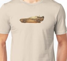 Lost in the Wild Wild West! (Golden Delorean Doubleexposure Art) Unisex T-Shirt