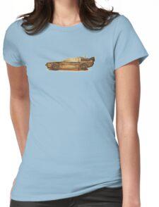 Lost in the Wild Wild West! (Golden Delorean Doubleexposure Art) Womens Fitted T-Shirt