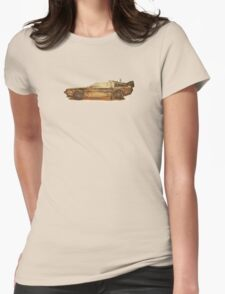 Lost in the Wild Wild West! (Golden Delorean Doubleexposure Art) Womens Fitted T-Shirt
