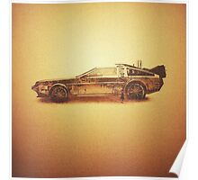 Lost in the Wild Wild West! (Golden Delorean Doubleexposure Art) Poster