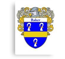 Baker Coat of Arms/ Baker Family Crest Canvas Print