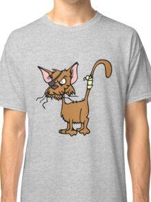 Fighting cat clip art cat Classic T-Shirt