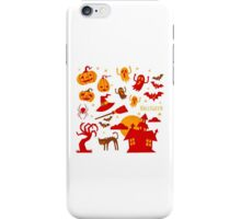 Happy halloween card design related elements iPhone Case/Skin