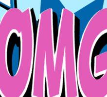 OMG! Retro Vintage Cartoon text Pop Art Sticker