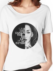 Detox Circle Text Portrait Women's Relaxed Fit T-Shirt