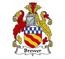 Brewer Coat of Arms / Brewer Family Crest Photographic Print
