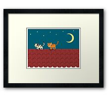 Cat on the roof Framed Print