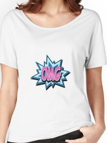 OMG! Retro Vintage Cartoon text Pop Art Women's Relaxed Fit T-Shirt
