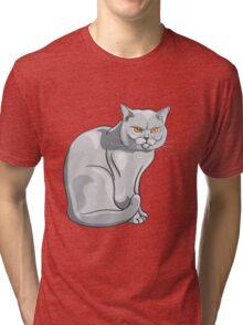 Wild cat art Tri-blend T-Shirt