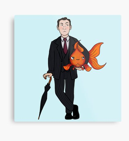 Living in a world of Goldfish Metal Print