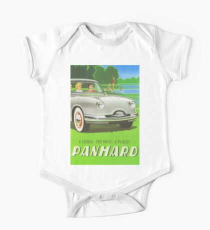 Fifties classic car Panhard from France  One Piece - Short Sleeve
