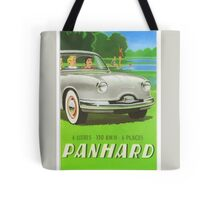 Fifties classic car Panhard from France  Tote Bag