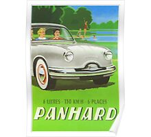 Fifties classic car Panhard from France  Poster