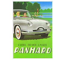 Fifties classic car Panhard from France  Photographic Print
