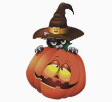 Halloween spooky pumpkins cat One Piece - Long Sleeve