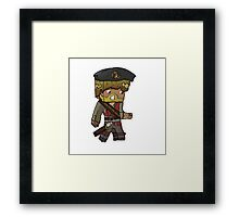 Cartoon Minecraft Pirate Framed Print
