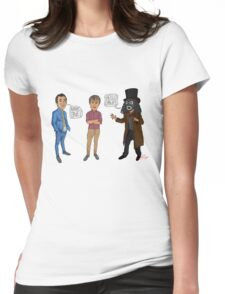 Only Fools & Horses / League of Gentlemen Mashup! Rodney, Trigger & Papa Lazarou Womens Fitted T-Shirt