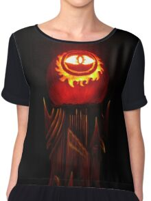 The Jack O'Lantern of Barad-dûr Chiffon Top