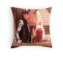Once Upon A Time Captain Swan Throw Pillow