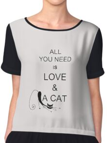 All You Need Is Love & A Cat Chiffon Top