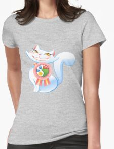 Social cat Womens Fitted T-Shirt