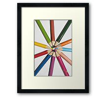 sun from color pencils Framed Print