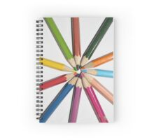 sun from color pencils Spiral Notebook