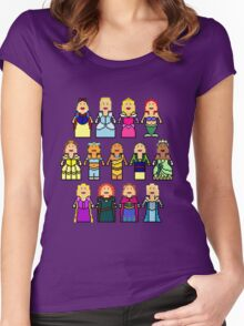 8-Bit Princesses Women's Fitted Scoop T-Shirt