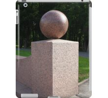 granite ball geometric sculpture  iPad Case/Skin