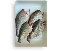 fresh gutted fish  Canvas Print