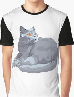 Wild cat sitting Graphic T-Shirt