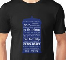 A Hero like the Doctor, Doctor Who Unisex T-Shirt