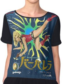 Barbarella Retro Movie Poster - Japanese Edition Chiffon Top