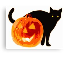 Cat jack o lantern Canvas Print
