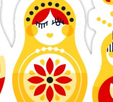 Russian Nesting Dolls – Yellow & Red Sticker