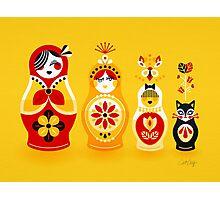 Russian Nesting Dolls – Yellow & Red Photographic Print
