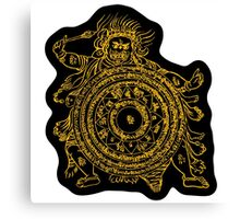 TamDin Buddhist Protective Charm gold on black Canvas Print