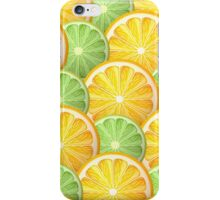 Juicy lime and orange pattern iPhone Case/Skin
