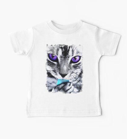 Purple eyes Cat Baby Tee