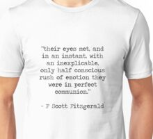 Quote 2 Great Gatsby Unisex T-Shirt
