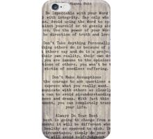The Four Agreements 6 iPhone Case/Skin