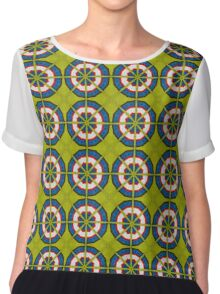 Knitted Target Chiffon Top