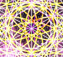 Scorpius Pink   Metatron Sacred Geometry Sticker Sticker