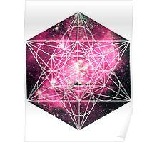Magellan Red | Metatron Sacred Geometry Sticker Poster