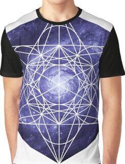 Pinwheel Blue Hue | Metatron Sacred Geometry Sticker Graphic T-Shirt