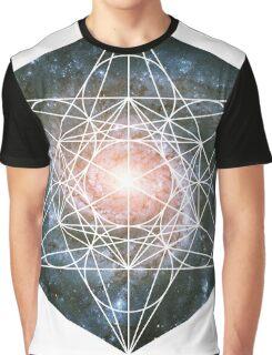 Pinwheel Galaxy | Metatron Sacred Geometry Sticker Graphic T-Shirt