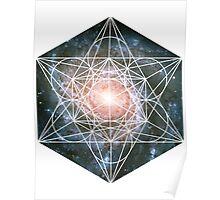 Pinwheel Galaxy | Metatron Sacred Geometry Sticker Poster